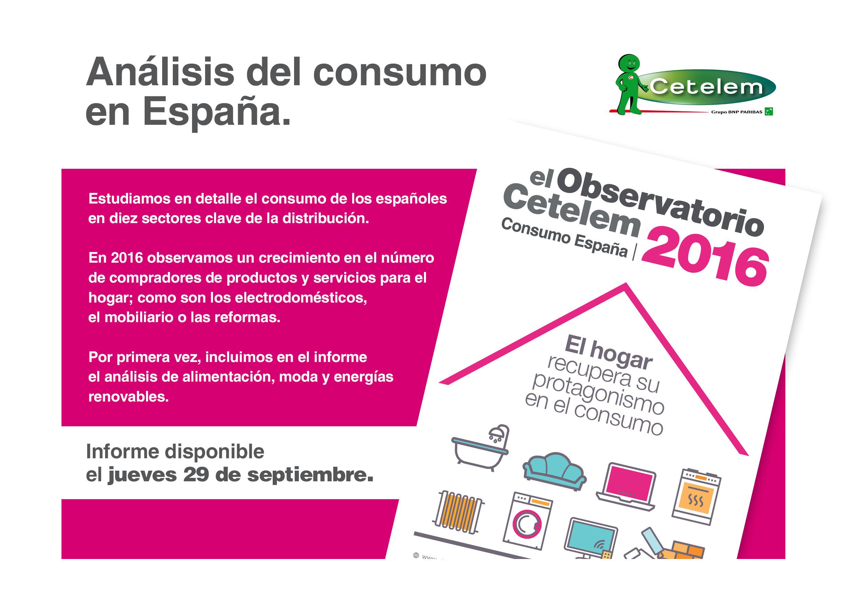 Observatorio Cetelem de Consumo en España 2016 - Disponible el 29 de septiembre